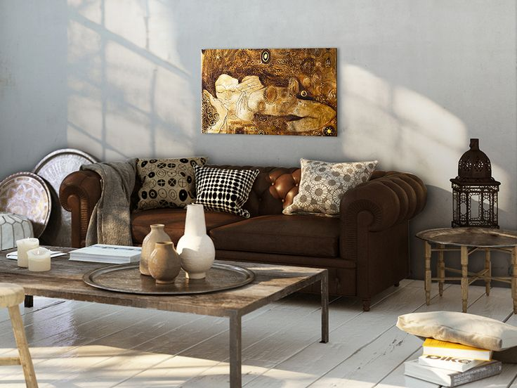 So lovely and so stylish! Brown&gold piece of art inspired by Gustav Klimt is something you can fall in love with!