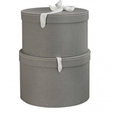 Boite à chapeau en carton - lot de 2