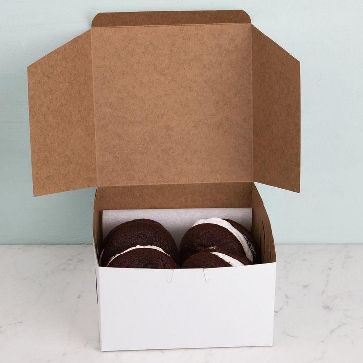 7 x 7 x 4 white cake bakery box 250bundle bakery