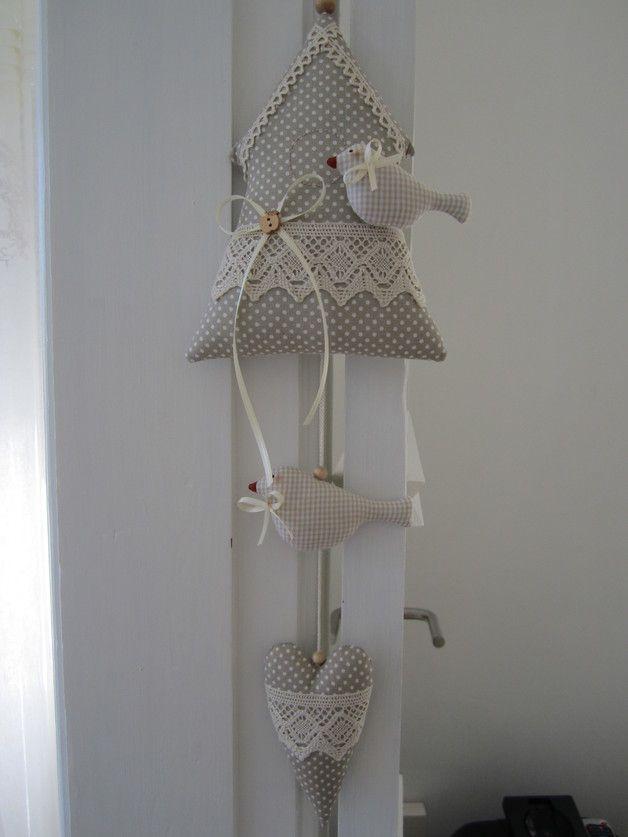 Girlanden & Wimpelketten - Vogelhäuschen, Vögel im Landhaus-Stil- Dekoration - ein Designerstück von Feinerlei bei DaWanda
