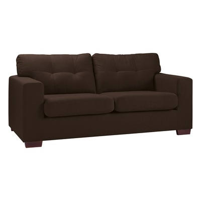 Available in four colours, the Belgrade is a stylish and compact three seater sofa. Sturdy wooden feet carry the sofa, while still keeping a cosy appearance. A retro-inspired button-detail on the plump cushions add a finishing touch that will ensure it will look at home in any lounge. £799