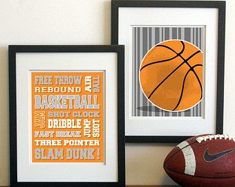 Popular items for basketball decor on Etsy