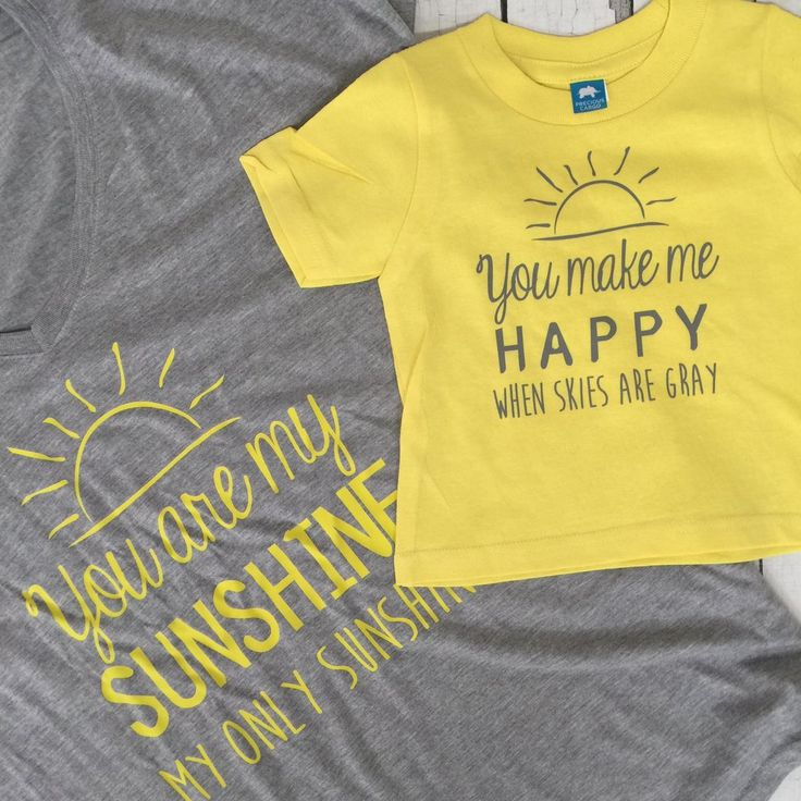 You Are My Sunshine, My Only Sunshine, Mommy and Me T-Shirt Set