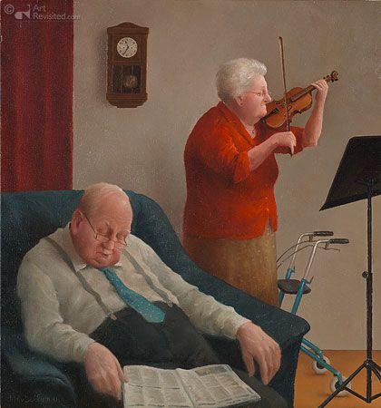 LULLABY. Marius van Dokkum (1957) estudió en la Academia Cristiana de Bellas Artes de Kampen, con especialización en ilustración. Sus pinturas consisten en bodegones, retratos y temas de ocio.