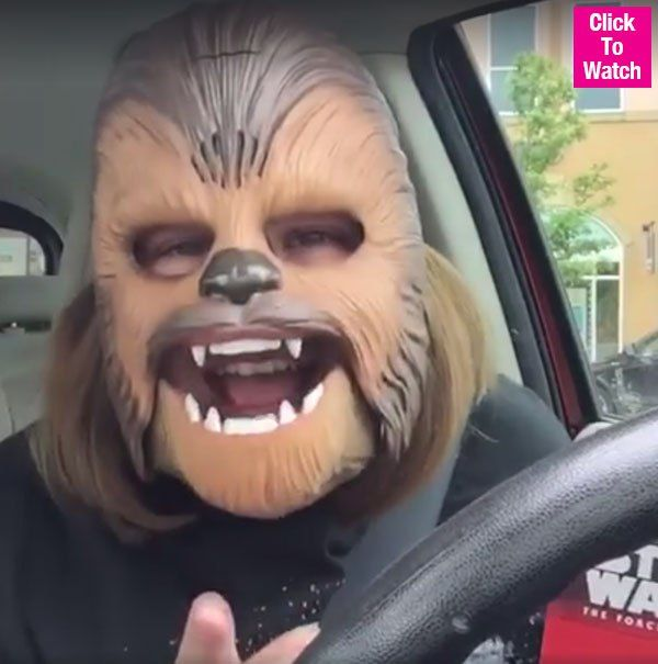 'Chewbacca Mask' Mom Takes James Corden To Work With 'Star Wars' Director J.J.Abrams