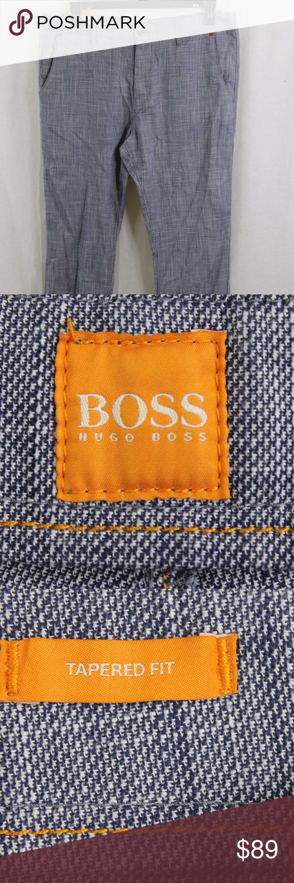 HUGO BOSS ORANGE SANDREW TAPERED FIT TROUSER PANTS SIZE:  34R  WAIST:   34  INSEAM:    32  LENGTH:     43  STYLE:    TAPERED FIT/SLIM LEG  MATERIAL:    COTTON  CONDITION:        BRAND NEW WITH TAGS. SOURCED DIRECTLY FROM A NATIONAL UPSCALE U.S. RETAILER. QUALITY AND AUTHENTICITY GUARANTEED!                    15-52-M31 Hugo Boss Pants