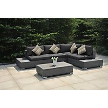 La Z Boy Sectional Seating Couch Charcoal Grey