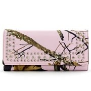 PINK Mossy Oak® Rhinestone Camo Wallet