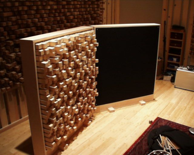 Gobos for recording studio made by John Pizzichemi...