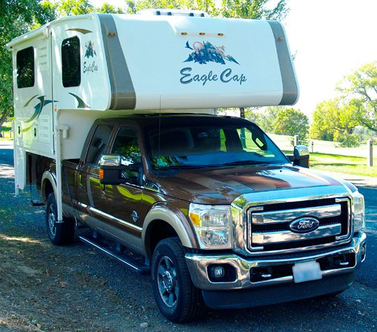 Eagle Cap 850, a full wall slide-out, short bed truck camper, http://www.truckcampermagazine.com/news/tcm-exclusive-2015-eagle-cap-850