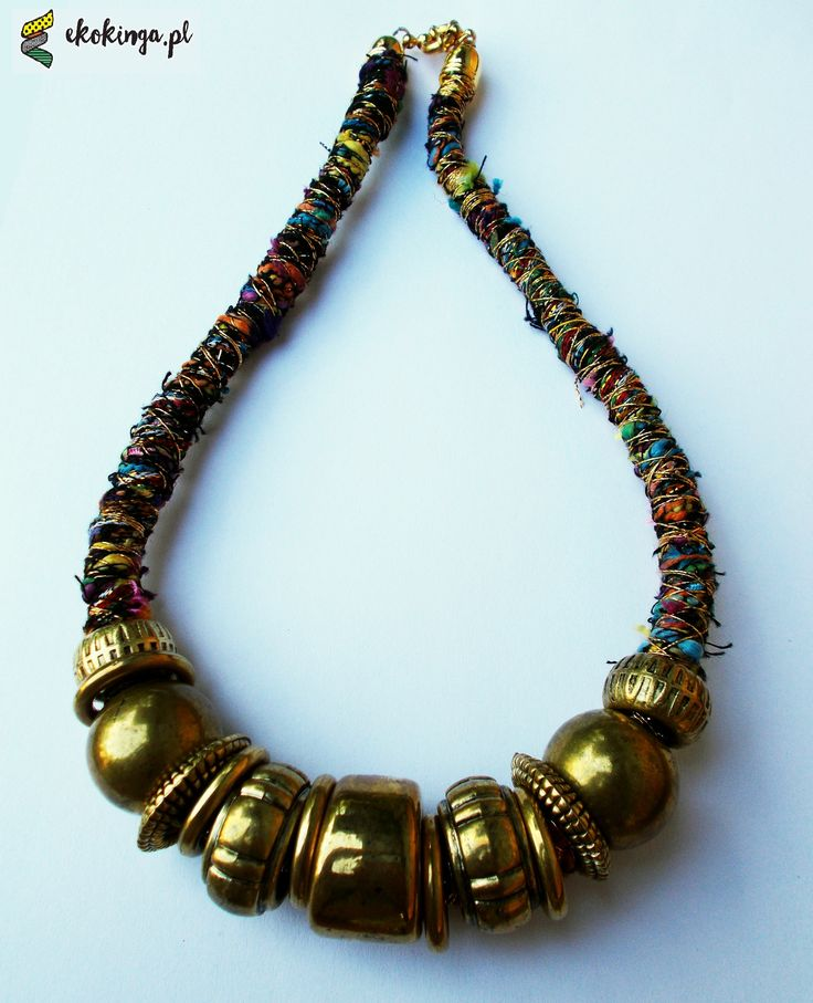 ETNO necklace from vscarf and beads.