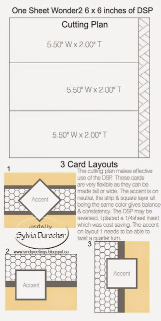 SMD Paper Arts: One Sheet Wonder 2 6x6 - 3 cards
