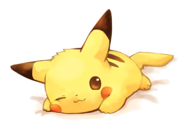 "Pikachu looks like hes saying,""Oh hey, I didn't notice you there. Don't mind me i'm just gonna lay here and look cute."""