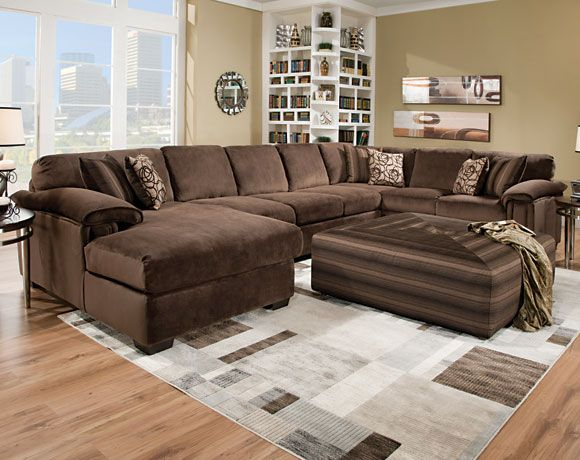 Rhino Beluga 3 Pc Sectional Sofa Living Rooms American