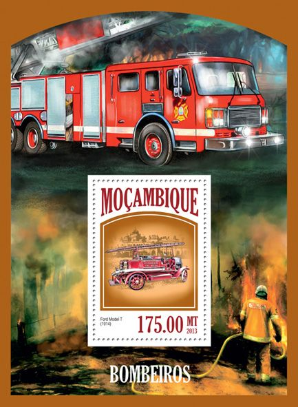 MOZ 13418 bFire engines, (Ford Model T).