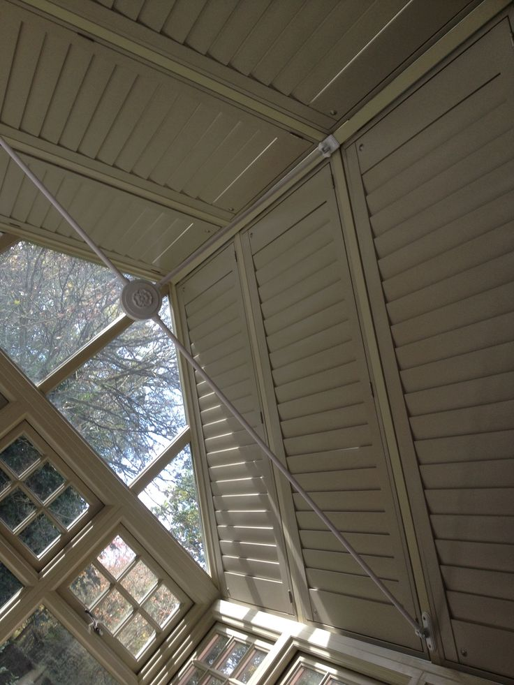 My new conservatory shutters. Thank you Le Louvre interior shutters - I love them!! www.lelouvre.co.uk