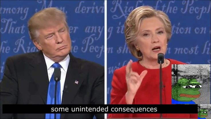 Donald Trump And Hillary Clinton Debate Parody (WARNING HARDCORE!!) - Mu...
