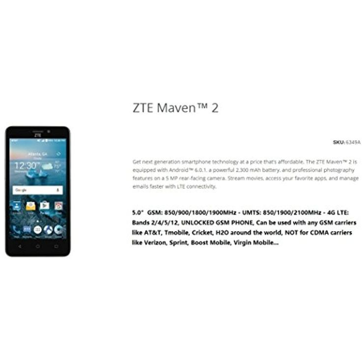 81 best cell phones images on pinterest phone phones and android unlocked gsm phone zte maven 2 5 touch screen 4g lte for more fandeluxe Images