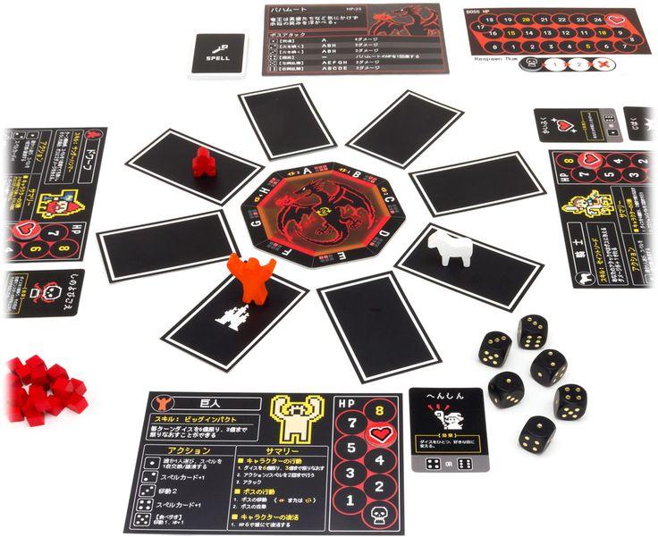 『バハムートゲート』は、全員勇者となって協力して知恵を絞り、大型ボスモンスターの周囲8マスで視線や攻撃を避けながら、各自の能力を活かした攻撃で打ち倒し、次々と封印された大ボスに挑むゲームです。