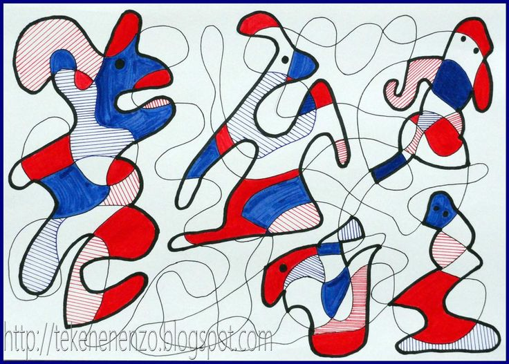Tekenen en zo: In de stijl van Dubuffet