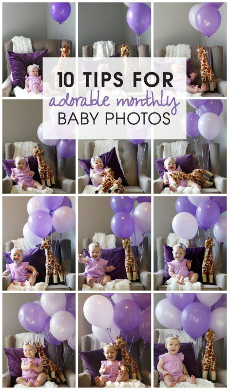 10 Tips for Adorable Monthly Baby Photos