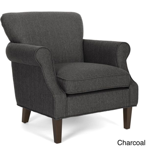 Bristow Fabric-upholstered Arm Chair with Espresso-finished Wood Legs