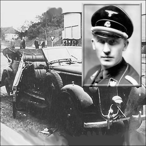 Mercedes de Reinhard Heydrich après l'attentat.