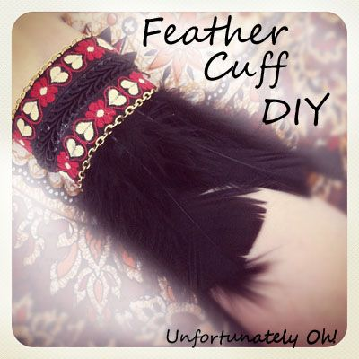 native american headdress tutorial | Unfortunately Oh!: Feather Cuff DIY