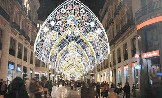Dit wordt de kerstverlichting die de Calle Larios in Málaga omtovert tot een Kathedraal – SpanjeVandaag