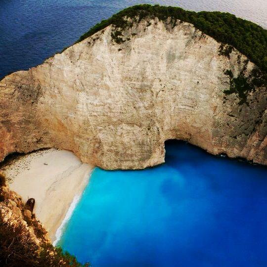 Zante. Shipwreck bay. Most beautiful blue sea I've ever seen