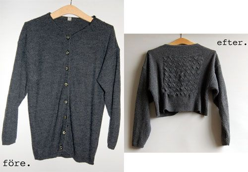 Great idea to transform and old sweater! Instructions on link.