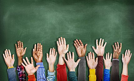 Multi-ethnic diversity of their hands