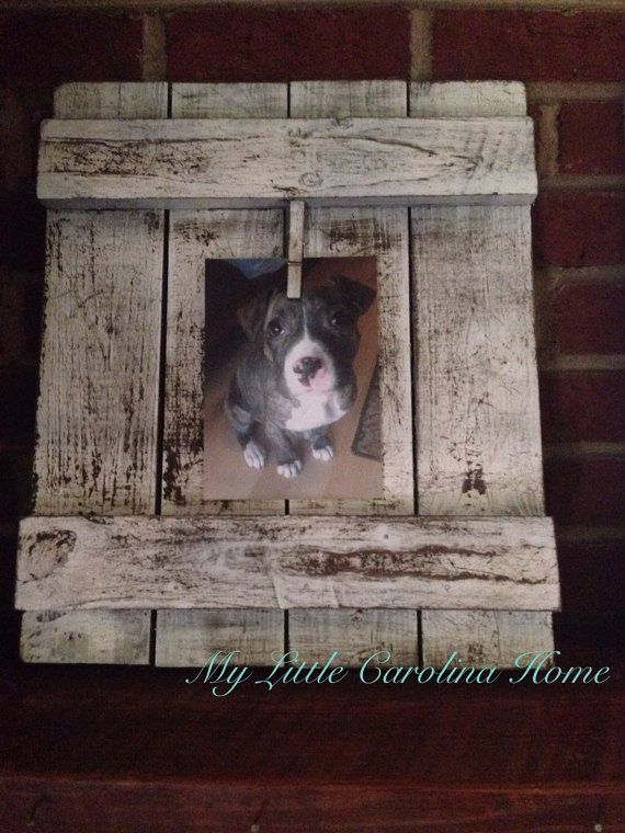 Rustic picture frame for a 5x7 photo! Beautiful!