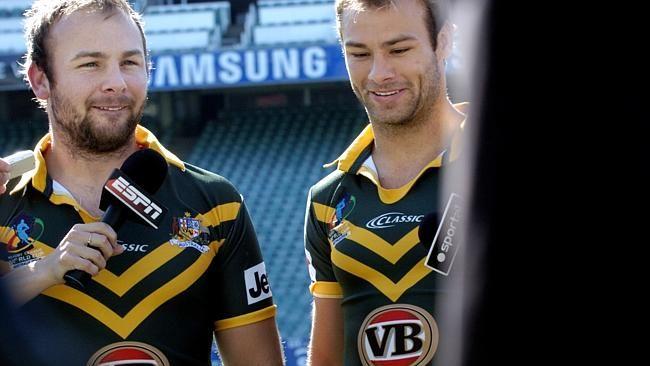 Brett and Glenn Stewart in their Australian jersey's.