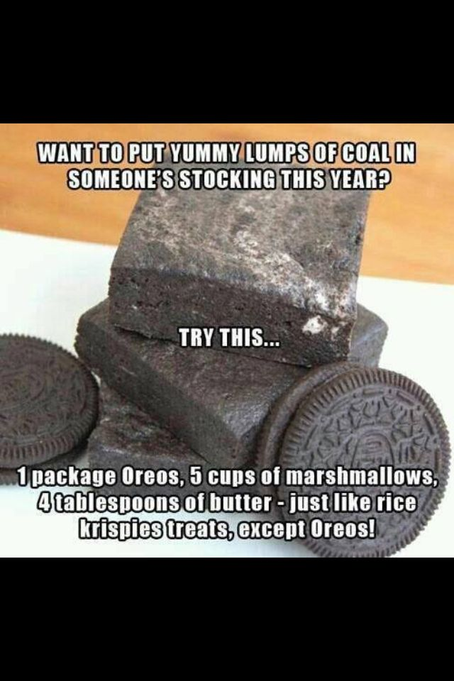 Christmas-Food idea-Coal as a Christmas present!?! THIS IS SOOOO COOL!!!                                                                                                                                                                                 More