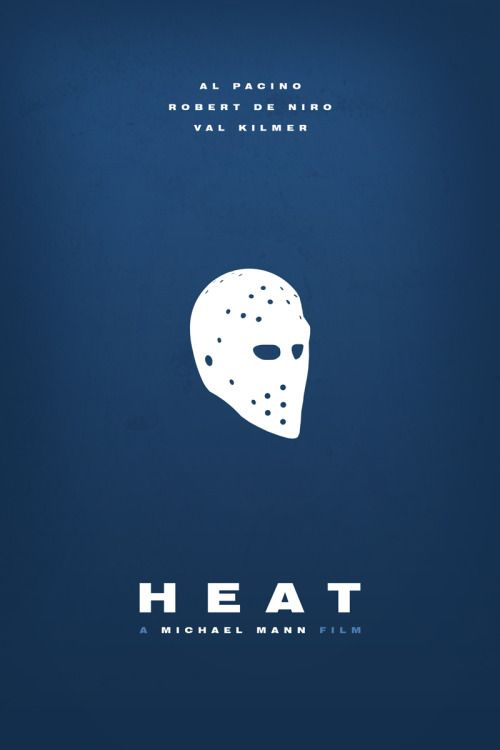 Heat (1995) ~ Minimal Movie Poster by Foursquare #amusementphile