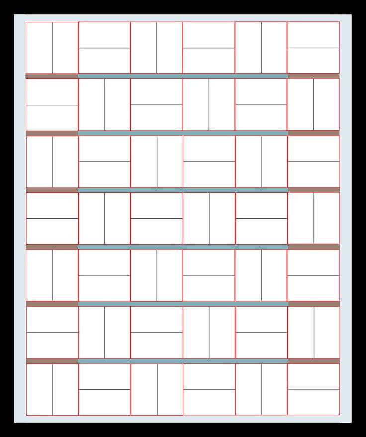 Simple Quilt Pattern Diagram by Simplistically Sassy