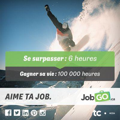 Se surpasser: 6 heures VS Gagner sa vie: 100 000 heures. Aime ta job! ;-) #aimetajob #emploi #job #Sochi2014