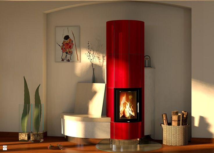 Projekt kominka - Salon - Styl Klasyczny - Palette CAD