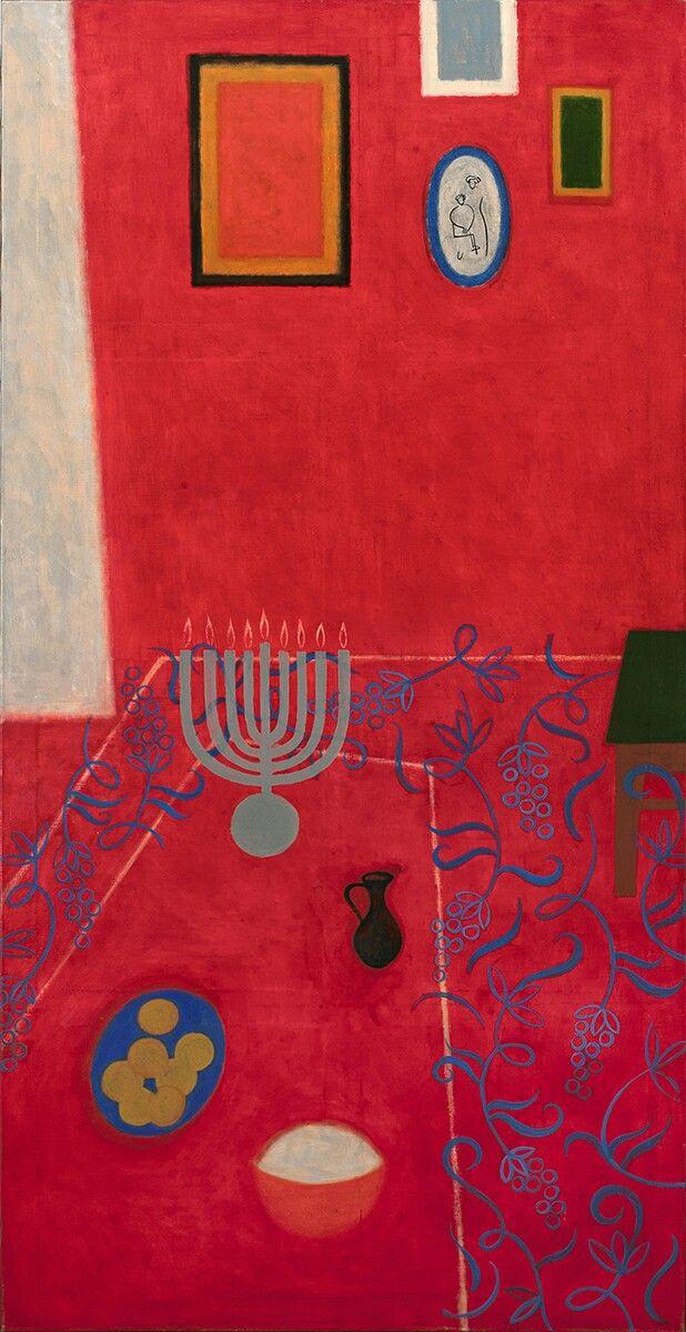 """Jewish holidays"", 200x100cm;  oil on canvas. 2016"