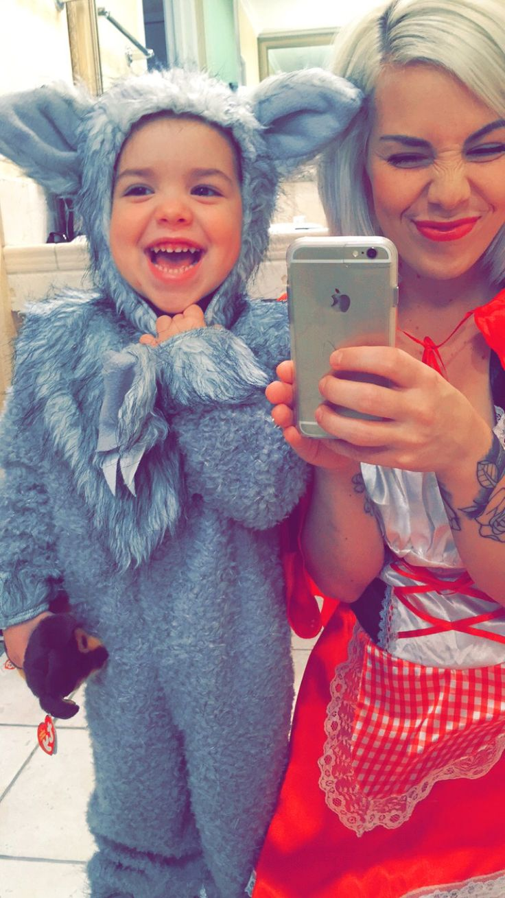 Red Riding Hood & her Big Bad Wolf! Mommy & son costume!