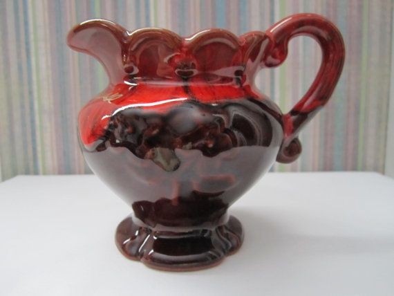 Blue Mountain Pottery Red Glazed Creamer by CuriousCatVintage, $13.00