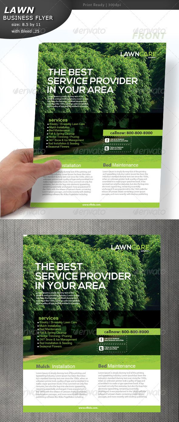 Lawn care flyer gardens templates and flyers for Garden maintenance flyer template