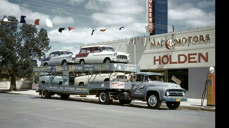 FC Holdens being delivered to the dealership