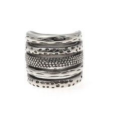 Bud to Rose online brede ring Caress silver, stainless steel - via www.comfystuff.nl