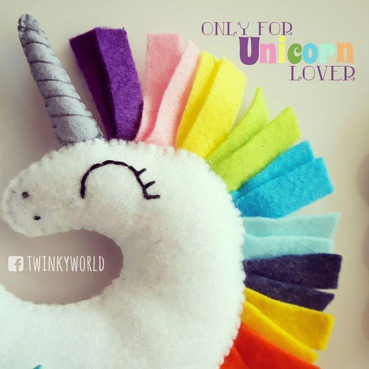 Felt Unicorn - Unicorn Lover - Unicorno feltro - pannolenci