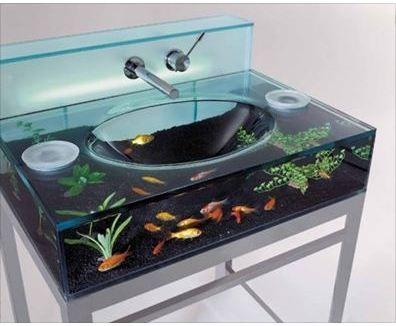 Aquarium vanity. so cool!