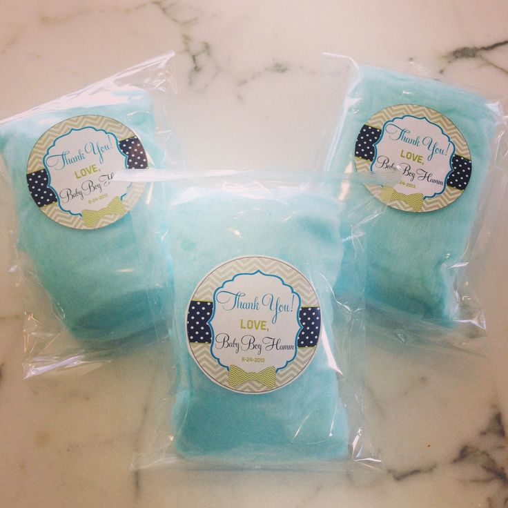 cotton candy for weddings. blue cotton candy baby shower gift for weddings