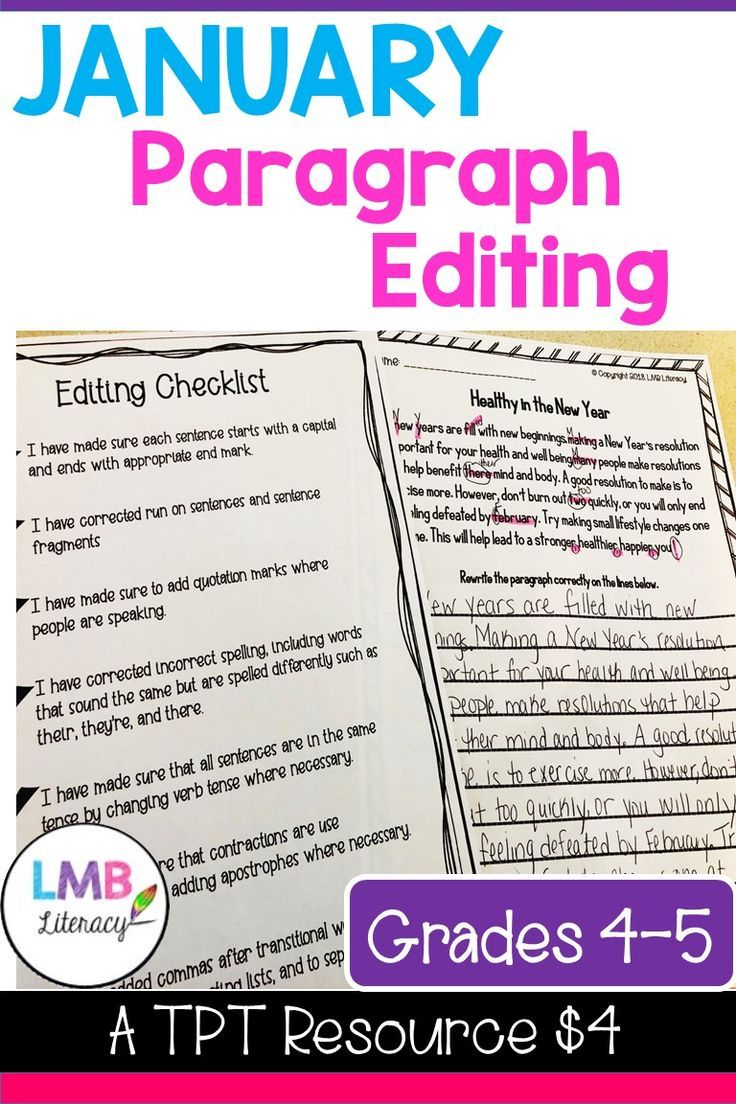 This product is specially aligned to Common Core for grades 4-5. Each  paragraph h…   Teaching writing [ 1104 x 736 Pixel ]