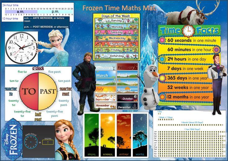 Frozen Time Maths Mat